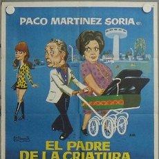 Cine: LQ00 EL PADRE DE LA CRIATURA PACO MARTINEZ SORIA FLORINDA CHICO POSTER ORIGINAL 70X100 ESTRENO. Lote 17780617