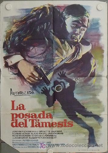LQ10 LA POSADA DEL TAMESIS EDGAR WALLACE SUBMARINISMO MAC POSTER ORIGINAL 70X100 ESTRENO (Cine - Posters y Carteles - Terror)