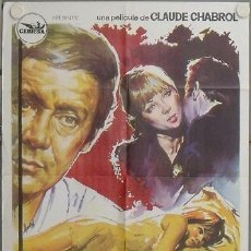 Cine: LQ13 LA MUJER INFIEL CHABROL STEPHANE AUDRAN MAURICE RONET POSTER ORIGINAL 70X100 ESTRENO. Lote 17781489
