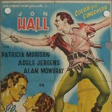 Cine: LQ20 EL REY DE LOS BOSQUES JOHN HALL PATRICIA MORRISON BOSQUED POSTER ORIG 70X100 ESTRENO LITOGRAFIA. Lote 17782251