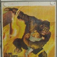 Cine: LQ55 EL GRAN GORILA BEN JOHNSON KONG FILM POSTER ORIGINAL 70X100 ESPAÑOL. Lote 17784719