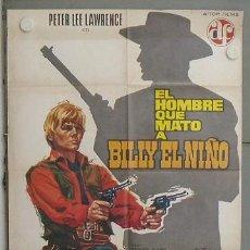 Cine: LQ68 EL HOMBRE QUE MATO A BILLY EL NIÑO PETER LEE LAWRENCE SPAGHETTI POSTER ORIGINAL 70X100 ESPAÑOL. Lote 17795029