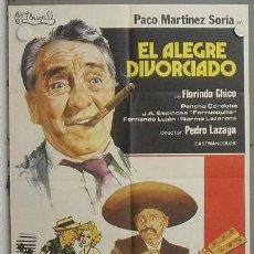 Cine: LQ94 EL ALEGRE DIVORCIADO PACO MARTINEZ SORIA POSTER ORIGINAL 70X100 ESTRENO. Lote 17796457