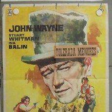 Cine: LR18 LOS COMANCHEROS JOHN WAYNE POSTER ORIGINAL 70X100 ESTRENO. Lote 17799005
