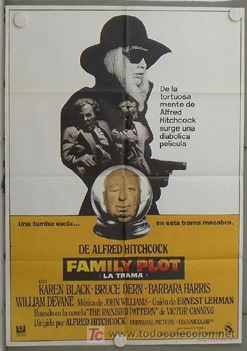 LR47 FAMILY PLOT ALFRED HITCHCOCK POSTER ORIGINAL 70X100 ESTRENO (Cine - Posters y Carteles - Suspense)