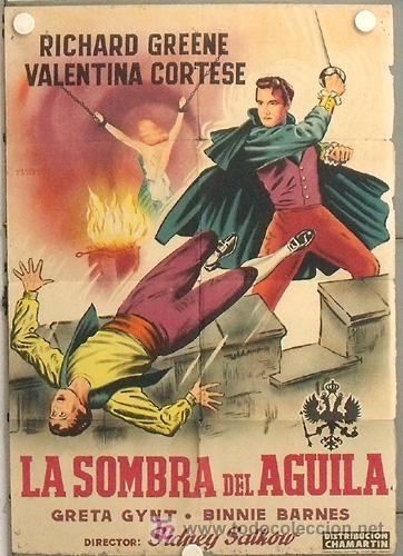 LS01 LA SOMBRA DEL AGUILA RICHARD GREENE POSTER ORIGINAL ESPAÑOL 70X100 DE ESTRENO LITOGRAFIA (Cine - Posters y Carteles - Aventura)