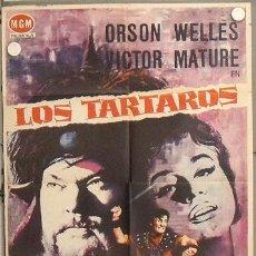 Cine: LS29 LOS TARTAROS VICTOR MATURE ORSON WELLES POSTER ORIGINAL 70X100 ESTRENO. Lote 17877398
