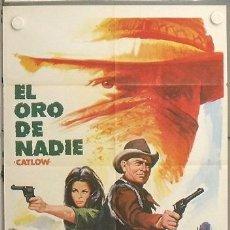 Cinema: LS32 EL ORO DE NADIE YUL BRYNNER RICHARD CRENNA LEONARD NIMOY POSTER ORIGINAL 70X100 ESTRENO. Lote 17877716