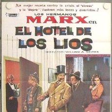 Cine: LS86 EL HOTEL DE LOS LIOS HERMANOS MARX POSTER ORIGINAL 70X100 ESPAÑOL. Lote 17893413