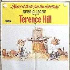Cine: LS69 EL GENIO TERENCE HILL SPAGHETTI POSTER ORIGINAL 70X100 ESTRENO. Lote 17893808