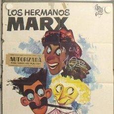Cine: LS73 UNA TARDE EN EL CIRCO HERMANOS MARX POSTER ORIGINAL 70X100 ESPAÑOL. Lote 17894141