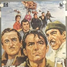 Cine: LT45 LOS CAÑONES DE NAVARONE GREGORY PECK POSTER ORIGINAL 70X100 ESPAÑOL. Lote 17911554