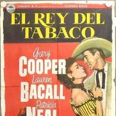 Cine: LT63 EL REY DEL TABACO GARY COOPER LAUREN BACALL PATRICIA NEAL POSTER ORIGINAL 70X100 ESTRENO. Lote 17911687