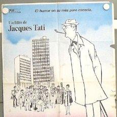 Cine: LT51 PLAY TIME JACQUES TATI POSTER ORIGINAL 70X100 ESPAÑOL. Lote 17912011