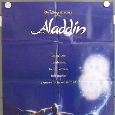 Cine: LT76 ALADDIN WALT DISNEY AVANCE POSTER ORIGINAL 70X100 ESTRENO. Lote 17913390