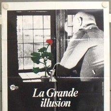 Cine: LT74 LA GRAN ILUSION JEAN RENOIR JEAN GABIN POSTER ORIGINAL 70X100 ESPAÑOL. Lote 17913479