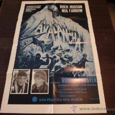 Cine: POSTER ORIGINAL LATINOAMERICANO AVALANCHE AVALANCHA ROCK HUDSON MIA FARROW DIRECCIÓNCOREY ALLEN 1978. Lote 17903473