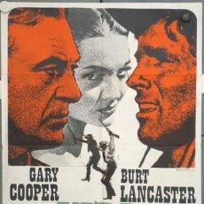 Cine: LU27 VERA CRUZ GARY COOPER BURT LANCASTER SARA MONTIEL MATAIX POSTER ORIGINAL 70X100 ESPAÑOL. Lote 17916391