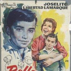 Cine: LU19 BELLO RECUERDO JOSELITO LIBERTAD LAMARQUE JANO POSTER ORIGINAL 70X100 ESTRENO. Lote 17916469