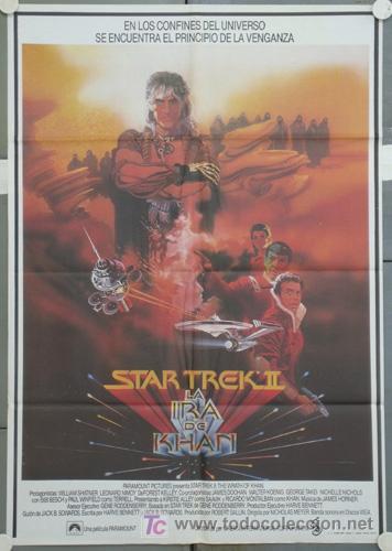 QT04 STAR TREK 2 LA IRA DE KHAN BOB PEAK POSTER ORIGINAL 70X100 ESTRENO (Cine - Posters y Carteles - Ciencia Ficción)