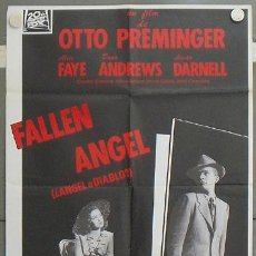 Cine: LV22 ANGEL O DIABLO ALICE FAYE DANA ANDREWS LINDA DARNELL POSTER ORIGINAL ESPAÑOL 70X100 R-89. Lote 17996242