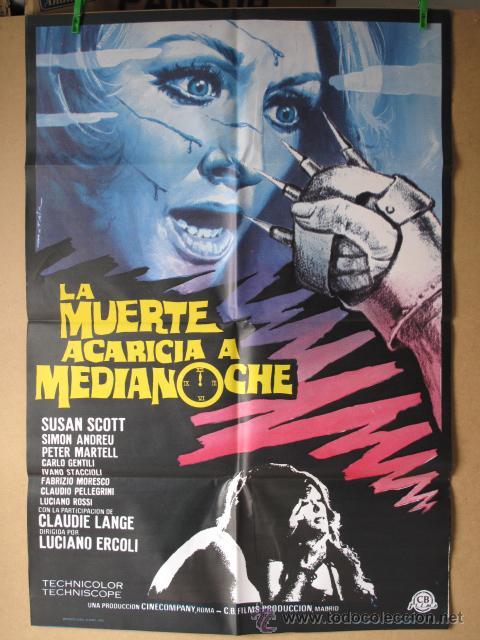 LA MUERTE ACARICIA A MEDIANOCHE (Cine - Posters y Carteles - Suspense)