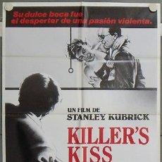Cine: LV58 EL BESO DEL ASESINO KILLER'S KISS STANLEY KUBRICK POSTER ORIGINAL 70X100 ESTRENO. Lote 18001773