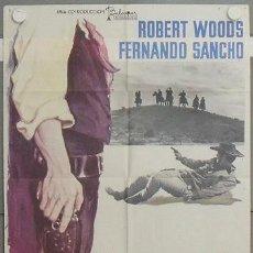 Cine: LV96 PISTOLEROS DE ARIZONA ROBERT WOODS BALCAZAR SPAGHETTI POSTER ORIGINAL 70X100 ESPAÑOL. Lote 18002884