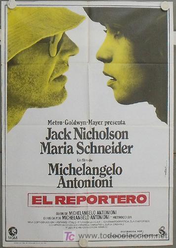 LW30 EL REPORTERO ANTONIONI JACK NICHOLSON MAC POSTER ORIGINAL 70X100 ESTRENO (Cine- Posters y Carteles - Drama)