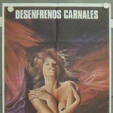 Cine: LW92 DESENFRENOS CARNALES SEXPLOITATION IGLESIAS POSTER ORIGINAL 70X100 ESTRENO. Lote 18022088