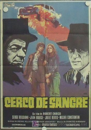 LX48 CERCO DE SANGRE ROBERT ENRICO SERGE REGGIANI POSTER ORIGINAL 70X100 ESTRENO (Cine - Posters y Carteles - Acción)