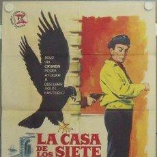Cine: LY16 LA CASA DE LOS SIETE HALCONES ROBERT TAYLOR JANO POSTER ORIGINAL 70X100 ESTRENO. Lote 18052813