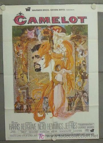 LY42 CAMELOT JOSHUA LOGAN VANESSA REDGRAVE BOB PEAK POSTER ORIGINAL 70X100 ESTRENO (Cine - Posters y Carteles - Musicales)