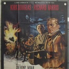 Cine: ZQ06D LOS HEROES DE TELEMARK KIRK DOUGLAS RICHARD HARRIS POSTER ORIGINAL FRANCES 120X160. Lote 18132544