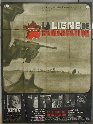 LZ94 LA LIGNE DE DEMARCATION JEAN SEBERG CLAUDE CHABROL RONET POSTER ORIGINAL FRANCES 120X160 (Cine - Posters y Carteles - Bélicas)