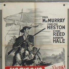 Cine: MA00 HORIZONTES AZULES CHARLTON HESTON INDIOS POSTER ORIGINAL FRANCES 60X80. Lote 18133515