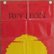 Cine: MA53 EL REY LEON WALT DISNEY POSTER ORIGINAL 70X100 ESTRENO. Lote 18172822