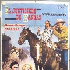 Cine: MA75 EL JUSTICIERO DE KANSAS KARL MAY STEWART GRANGER PIERRE BRICE POSTER ORIGINAL 70X100 ESTRENO. Lote 18174011