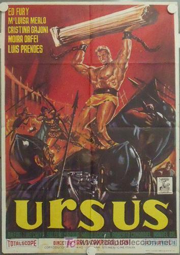 MB20 URSUS ED FURY PEPLUM MARIA LUISA MERLO LUIS PRENDES JANO POSTER ORIGINAL 70X100 ESPAÑOL R-73 (Cine - Posters y Carteles - Aventura)