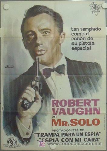 MB23 MR SOLO ROBERT VAUGHN AGENTE DE CIPOL RARO POSTER ORIGINAL 70X100 ESTRENO (Cine - Posters y Carteles - Suspense)