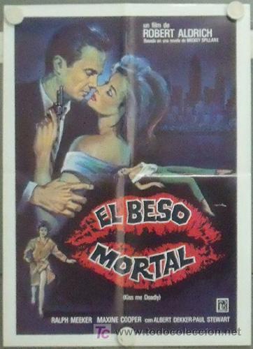 MB33 EL BESO MORTAL KISS ME DEADLY ROBERT ALDRICH POSTER ORIGINAL 50X70 ESTRENO (Cine - Posters y Carteles - Suspense)