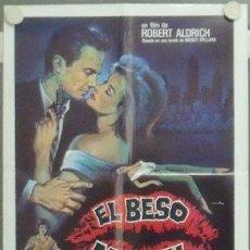 Cine: MB33 EL BESO MORTAL KISS ME DEADLY ROBERT ALDRICH POSTER ORIGINAL 50X70 ESTRENO. Lote 18191723