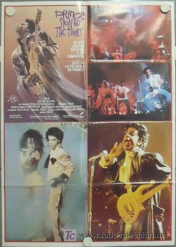 MB52 THE SIGN 'O' THE TIMES PRINCE POSTER ORIGINAL 70X100 ESTRENO (Cine - Posters y Carteles - Musicales)