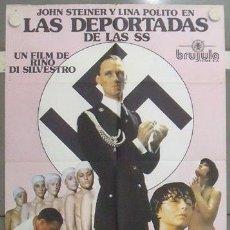 Cine: MB63 LAS DEPORTADAS DE LAS SS SEXPLOITATION POSTER ORIGINAL 70X100 ESTRENO. Lote 18207203