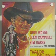 Cine: YP22D VALOR DE LEY JOHN WAYNE POSTER ORIGINAL 70X100 ESTRENO. Lote 18207595