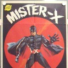 Cinéma: MB82 MISTER X NORMAN CLARK SUPER HEROE ENMASCARADO POSTER ORIGINAL 70X100 ESTRENO. Lote 18208067