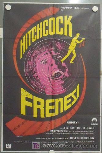 MB86 FRENESI ALFRED HITCHCOCK MAC POSTER ORIGINAL 70X100 ESTRENO (Cine - Posters y Carteles - Terror)