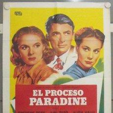 Cine: MB74 EL PROCESO PARADINE ALFRED HITCHCOCK GREGORY PECK ALIDA VALLI POSTER ORIGINAL 70X100 ESPAÑOL. Lote 18210077