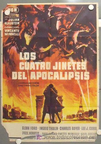 MC24 LOS CUATRO JINETES DEL APOCALIPSIS GLENN FORD POSTER ORIGINAL 70X100 ESTRENO (Cine - Posters y Carteles - Bélicas)
