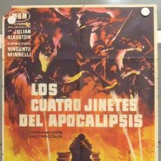 Cine: MC24 LOS CUATRO JINETES DEL APOCALIPSIS GLENN FORD POSTER ORIGINAL 70X100 ESTRENO. Lote 18211907